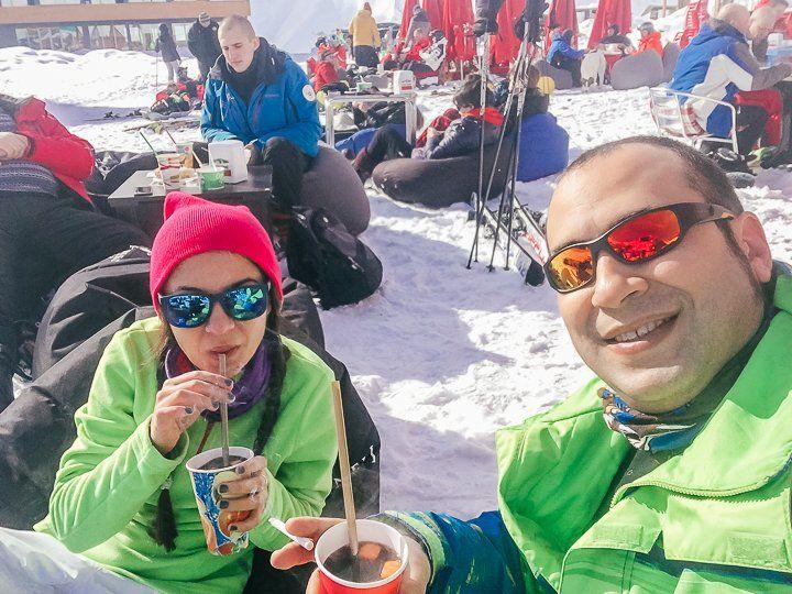Gudauri Kayak Merkezi - sıcak şarap
