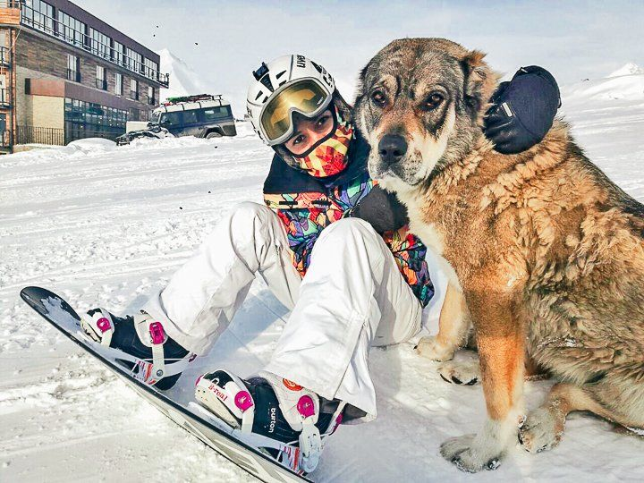 Gudauri Kayak Merkezi - snowboard