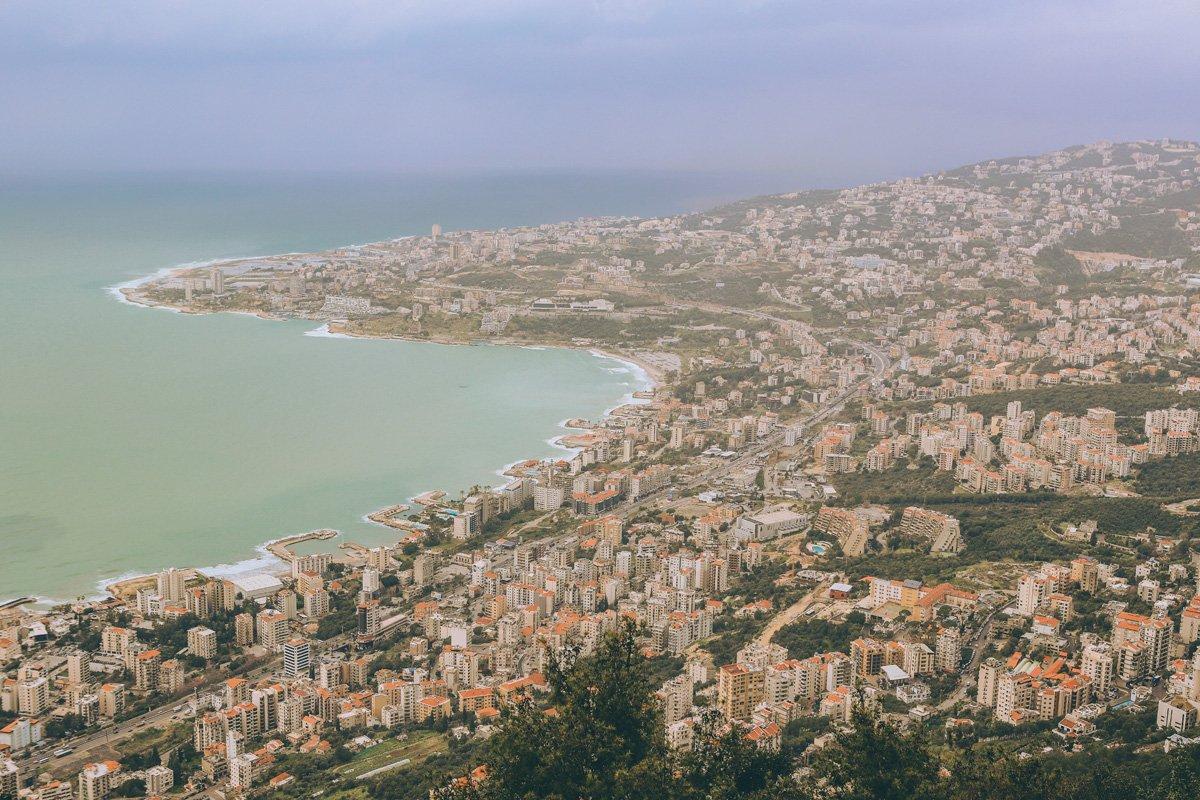 Lübnan gezi planı - Harissa Tepesi'nden Beyrut'a bakış