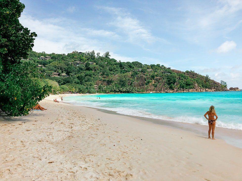 Turkuaz deniz tropik sahil