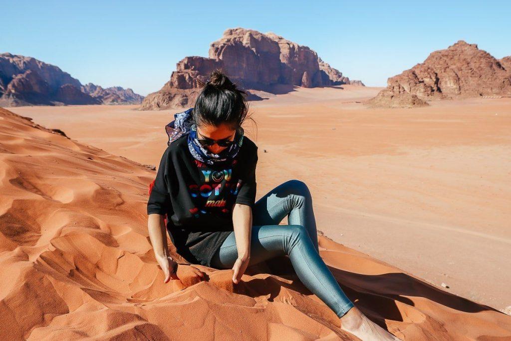 Wadi Rum çölü ürdün red sand dunes